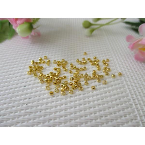 Perles à écraser 2 mm dorées x 5 gr (env 250 à 300) - Photo n°1