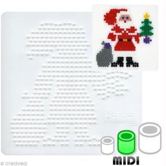 Plaque pour perles Hama Midi - Père Noël