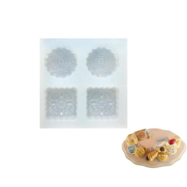 4 Témoin W Ornements, Maison de Poupée Fée de Jardin Miniature d'Aliments Sucrés, 3D Silicone Argile - Photo n°1