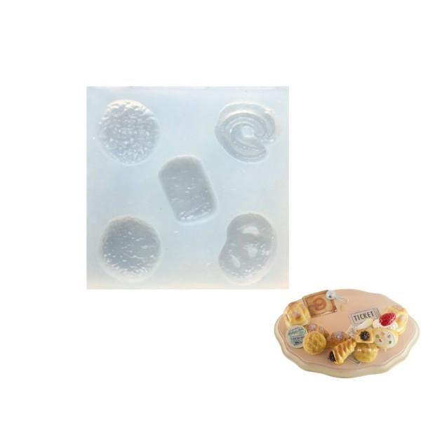 5 Mélanger le Pain Bretzel, Maison de Poupée Fée de Jardin Miniature d'Aliments Sucrés, 3D Silicone - Photo n°1
