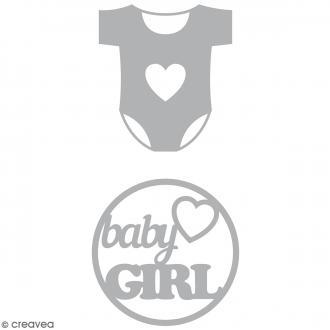 Dies Artemio Body Baby Girl - 2 matrices de découpe