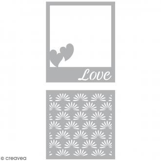Dies Artemio Cadres Love - 2 matrices de découpe