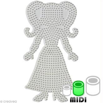 Plaque pour perles Hama Midi - Adolescente