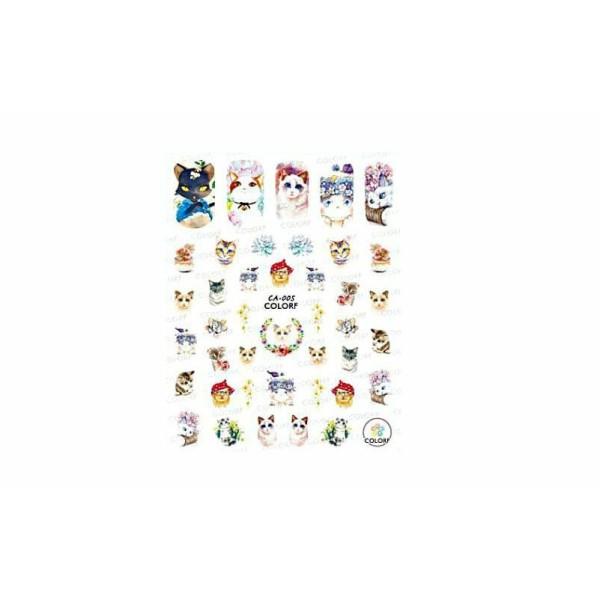 1 Feuille de Chat Animal Mélanger 1 3d Nail Art autocollant Autocollants Stickers Appliques Set de B - Photo n°1