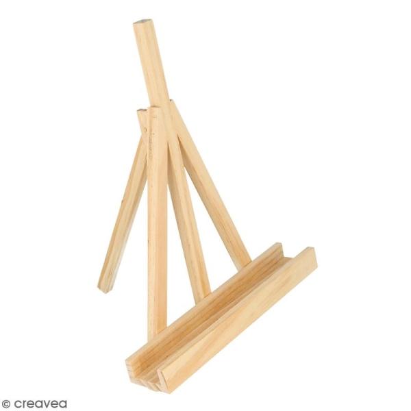 Mini chevalet en bois - 18 x 5 x 25 cm - Photo n°1