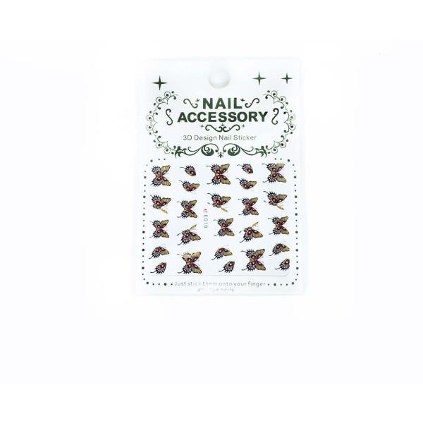 1 Feuille de Papillon 3d Nail Art autocollant Autocollants Stickers Appliques Set de BRICOLAGE de la - Photo n°1
