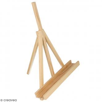 Mini chevalet en bois - 22 x 6 x 30 cm
