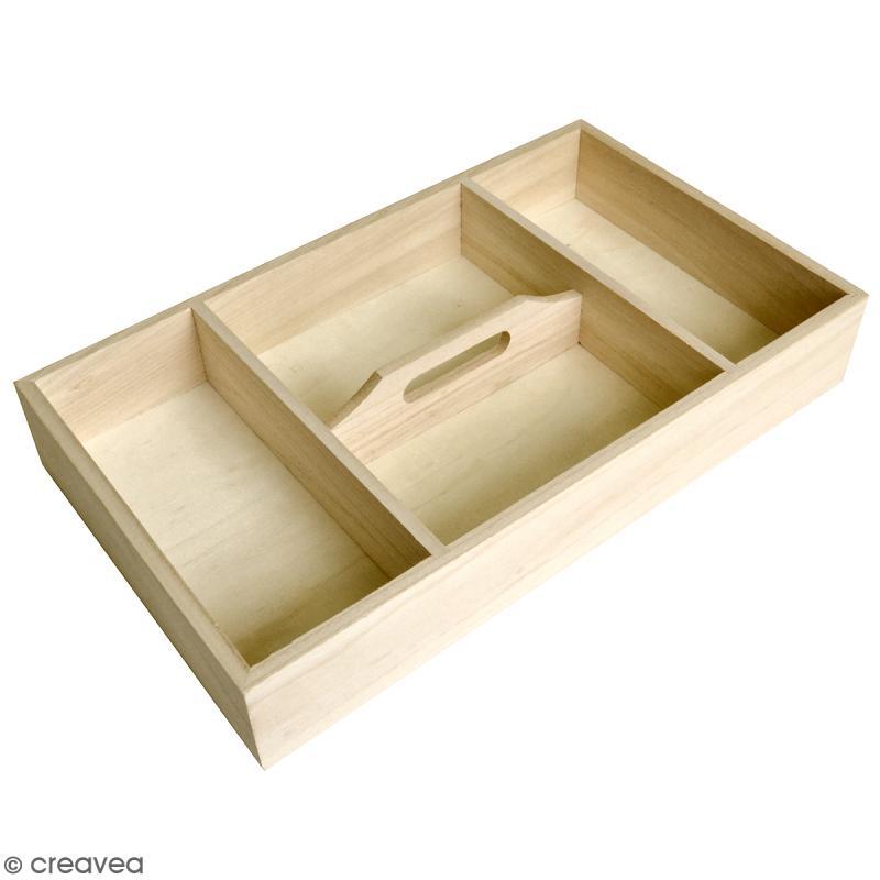 plateau compartiments d corer bois brut 43 x 25 x. Black Bedroom Furniture Sets. Home Design Ideas