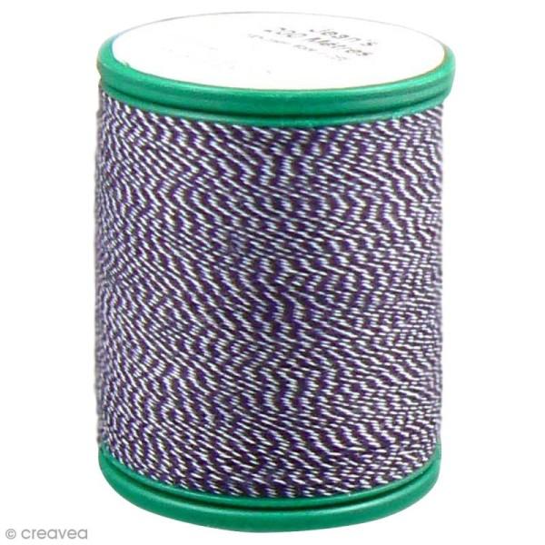 Fil à coudre bicolore Laser - Coton - Bicolore bleu jean et blanc - 200 m - Photo n°1