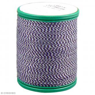 Fil à coudre bicolore Laser - Coton - Bicolore bleu jean et blanc - 200 m