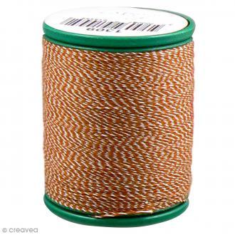 Fil à coudre bicolore Laser - Coton - Bicolore orange et blanc - 200 m