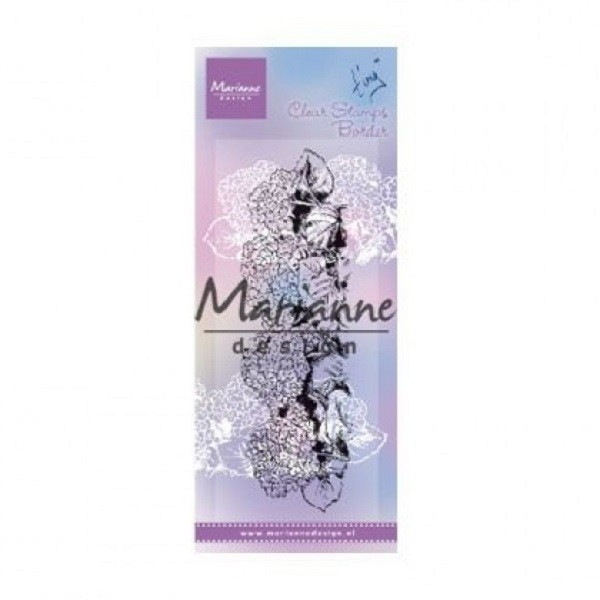 Tampon clear Marianne Design - Tiny's border - Hydrangea - Photo n°1