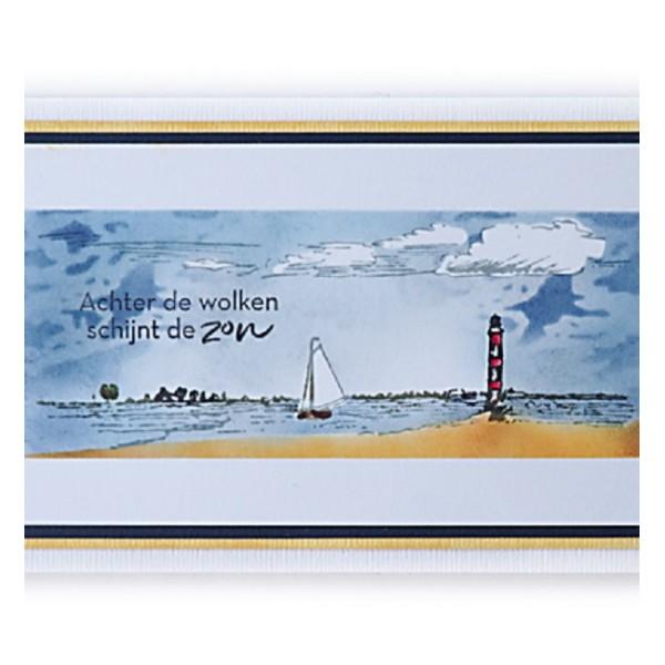 Tampon clear Marianne Design - Tiny's border - Horizon - Photo n°2