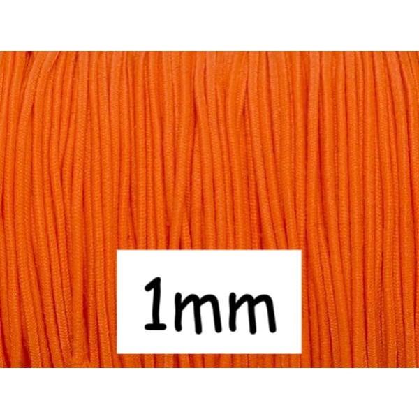 5m Fil Élastique Orange Fluo 1mm - Photo n°1