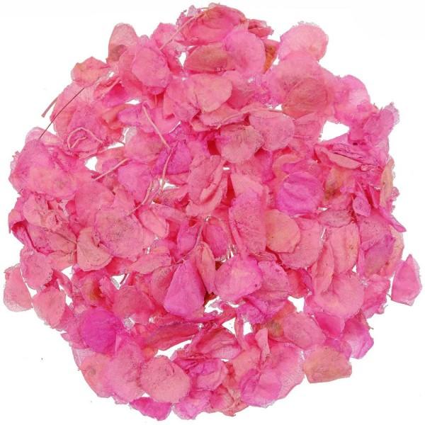 Pétales de roses séchées couleur rose - 25 grammes - Photo n°1