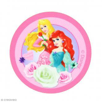 Ecusson imprimé thermocollant - Princesses Disney - Aurore et Ariel