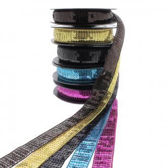 Galon paillettes - 24 mm - Plusieurs coloris - Au mètre (sur mesure)