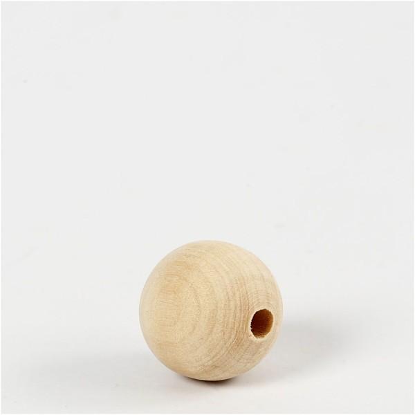 Perles En Bois - Diamètre : 6 cm - 3 pcs - Photo n°1