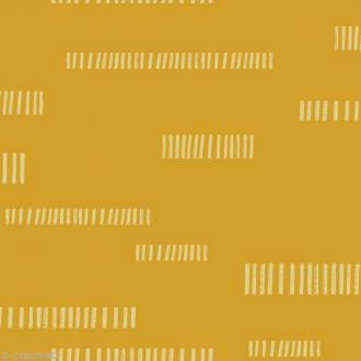 Tissu Atelier Brunette Impression - Dash Lime - Par 10 cm (sur mesure)