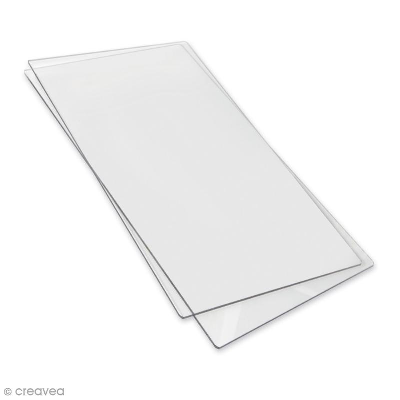 plaque de d coupe sizzix 38 x 22 5 cm 2 pcs kit d 39 adaptation creavea. Black Bedroom Furniture Sets. Home Design Ideas