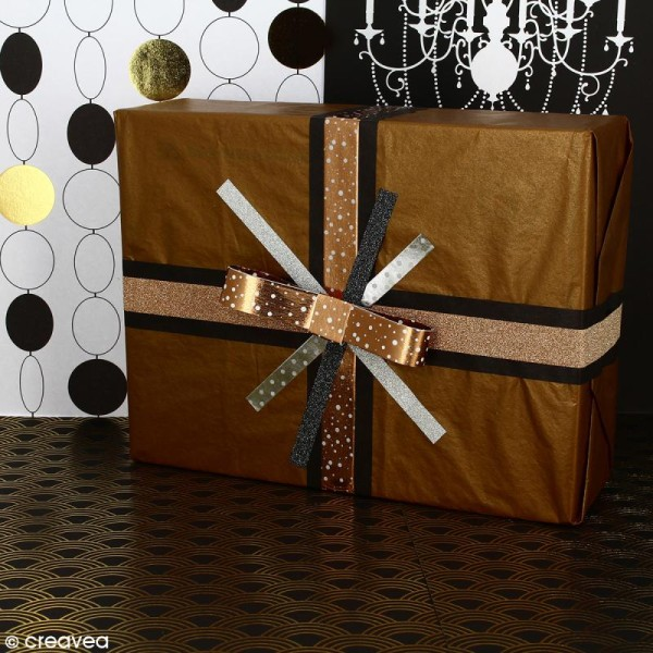 Assortiment Masking tape Foil Couleurs métallisées et motifs - 0,8 cm x 10 m - 5 pcs - Photo n°4