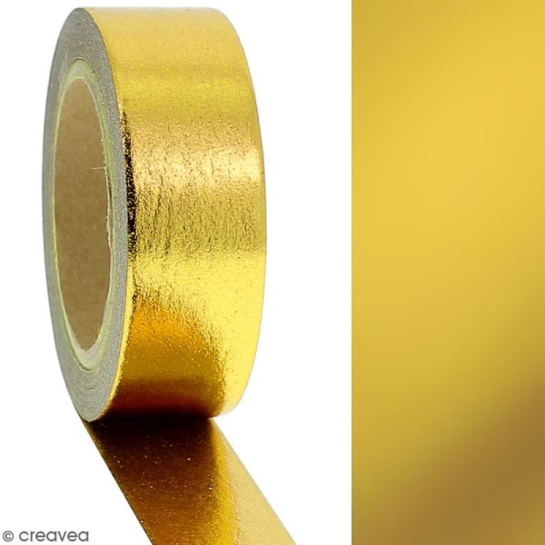 Masking tape Foil Doré uni - 1,5 cm x 10 m - Photo n°2