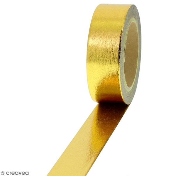 Masking tape Foil Doré uni - 1,5 cm x 10 m - Photo n°1