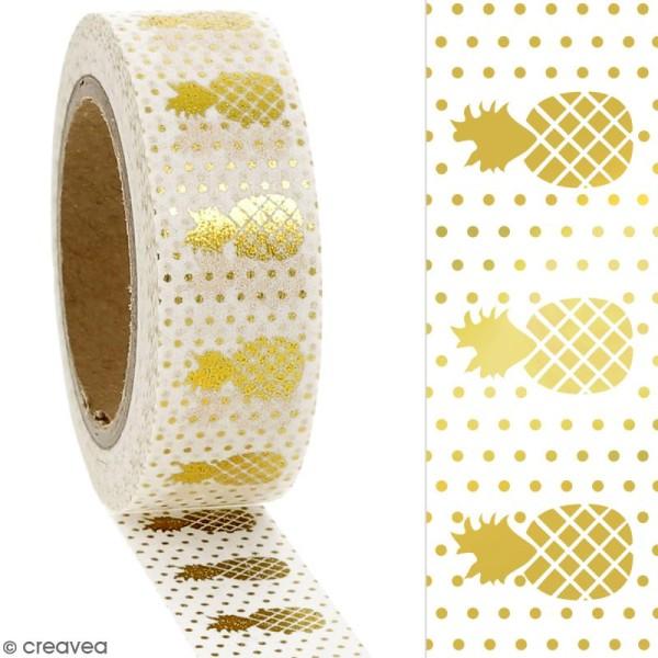 Masking tape Foil Ananas doré - 1,5 cm x 10 m - Photo n°2