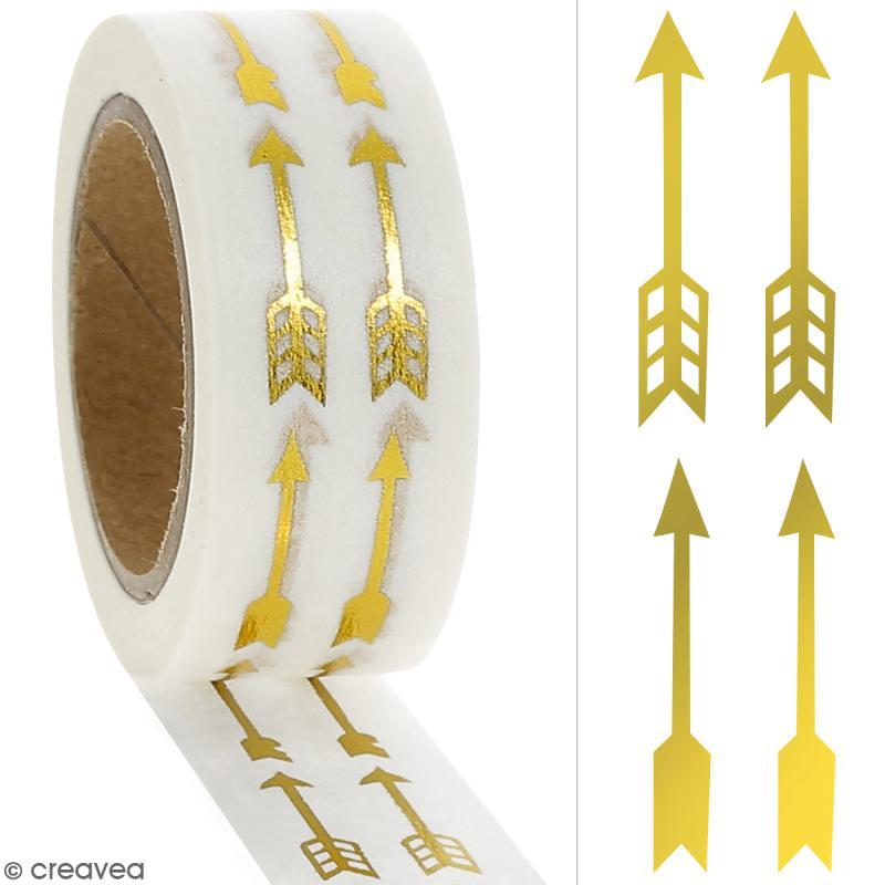 Masking tape Foil Flèches dorées - 1,5 cm x 10 m - Photo n°2
