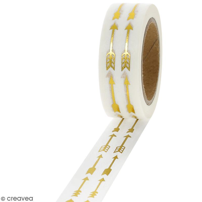 Masking tape Foil Flèches dorées - 1,5 cm x 10 m - Photo n°1