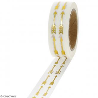 Masking tape Foil Flèches dorées - 1,5 cm x 10 m