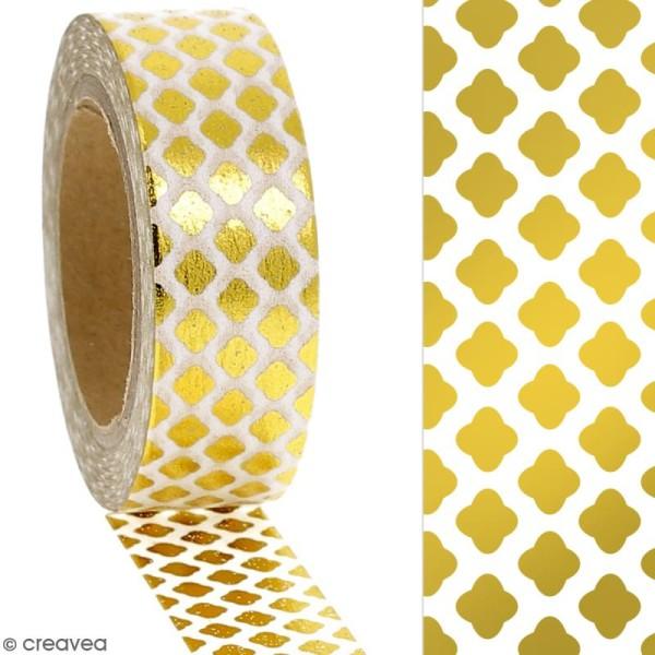 Masking tape Foil Losanges dorés - 1,5 cm x 10 m - Photo n°2