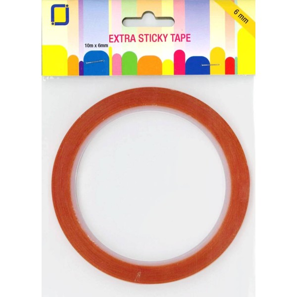 Ruban double face - Extra Sticky Tape - 6 mm x 10 m - Photo n°1