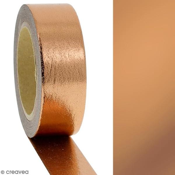 Masking tape Foil Cuivré uni - 1,5 cm x 10 m - Photo n°2