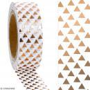 Masking tape Foil Triangles cuivrés sur fond blanc - 1,5 cm x 10 m - Photo n°2