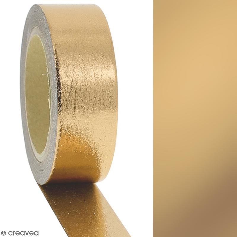 Masking tape Foil Jaune doré uni - 1,5 cm x 10 m - Photo n°2