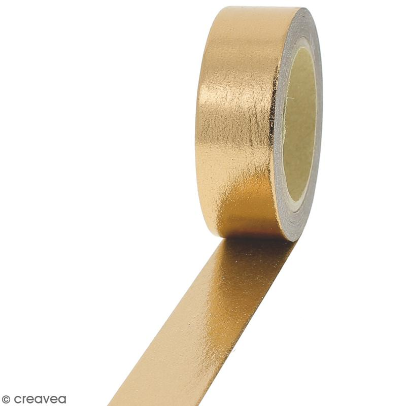 Masking tape Foil Jaune doré uni - 1,5 cm x 10 m - Photo n°1
