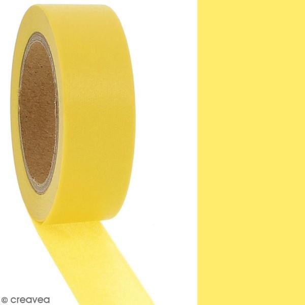 Masking tape Jaune uni - 1,5 cm x 10 m - Photo n°2