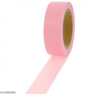 Masking tape Rose uni - 1,5 cm x 10 m