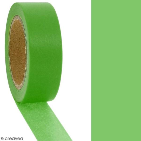 Masking tape Vert uni - 1,5 cm x 10 m - Photo n°2