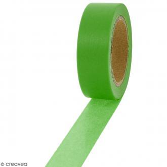 Masking tape Vert uni - 1,5 cm x 10 m