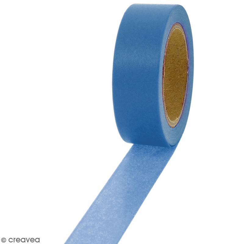 Masking tape Bleu uni - 1,5 cm x 10 m - Photo n°1