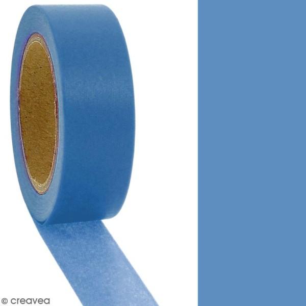 Masking tape Bleu uni - 1,5 cm x 10 m - Photo n°2