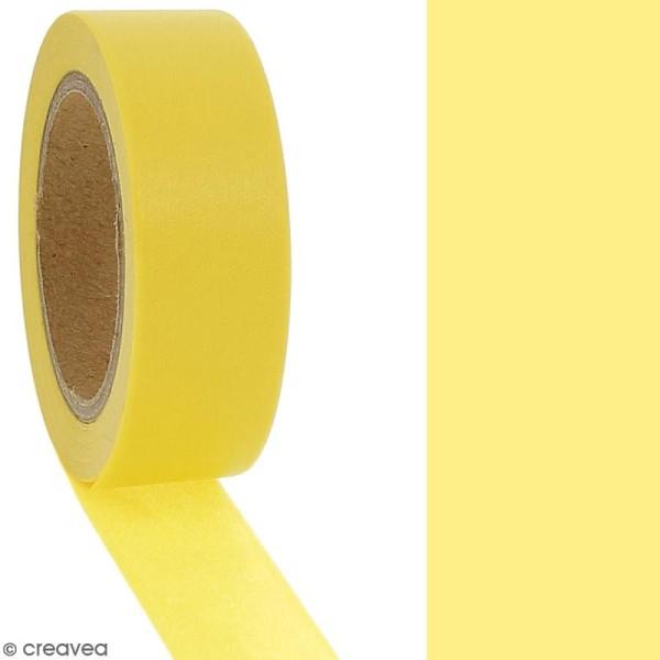 Masking tape Jaune soleil uni - 1,5 cm x 10 m - Photo n°2