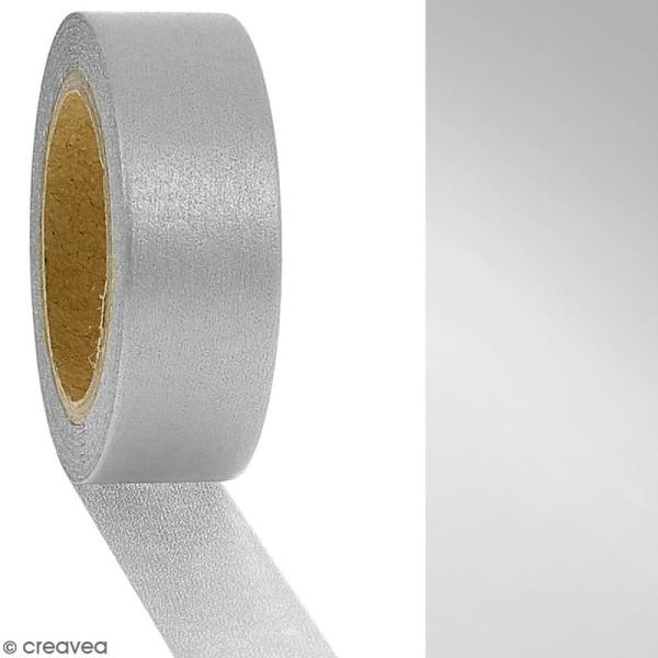 Masking tape Foil Argenté uni - 1,5 cm x 10 m - Photo n°2