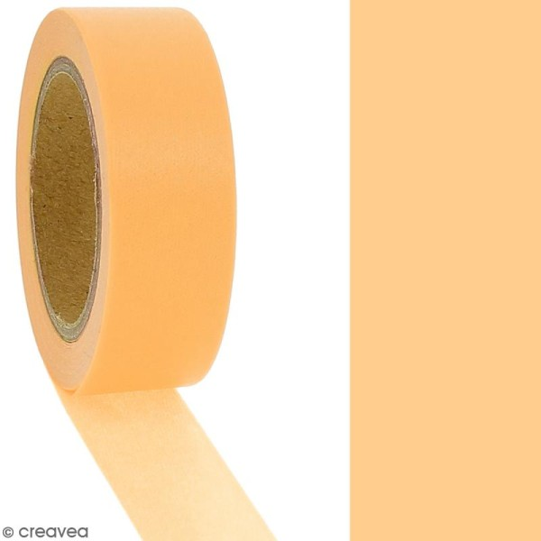 Masking tape Orange uni - 1,5 cm x 10 m - Photo n°2