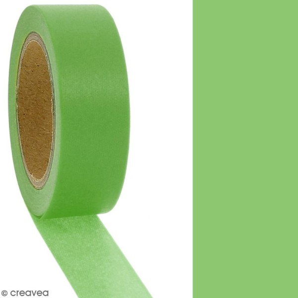 Masking tape Vert avocat uni - 1,5 cm x 10 m - Photo n°2