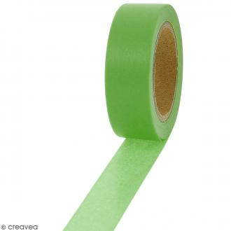 Masking tape Vert avocat uni - 1,5 cm x 10 m