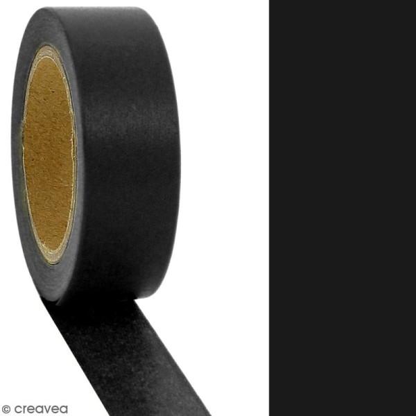 Masking tape Noir uni - 1,5 cm x 10 m - Photo n°2