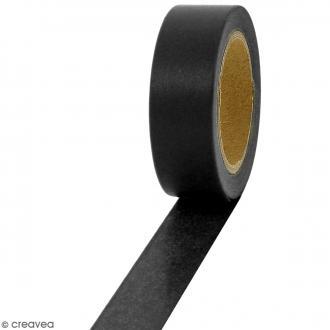 Masking tape Noir uni - 1,5 cm x 10 m